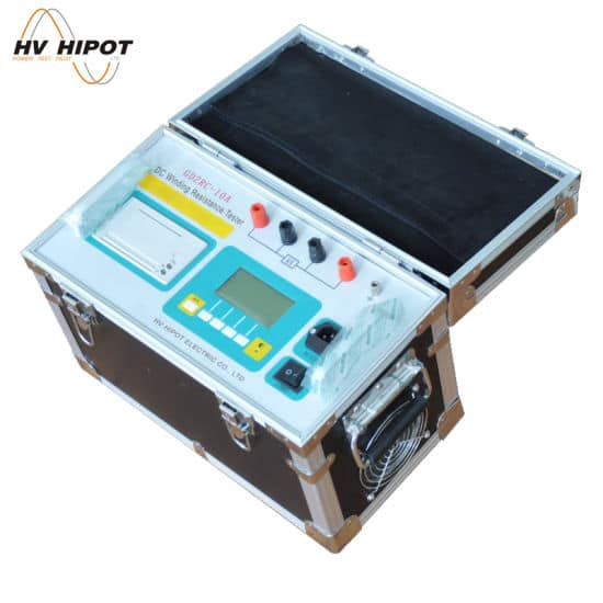 Thiết bị đo điện trở một chiều cuộn dây máy biến áp dòng 10A GDZRC-10A - HV Hipot - Trung Quốc